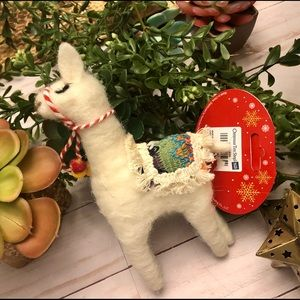 NWT llama, alpaca wool holiday ornament